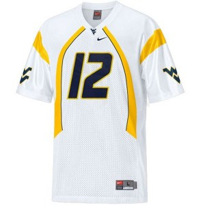 Geno Smith West Virginia Mountaineers #12 Youth - White Football Jersey