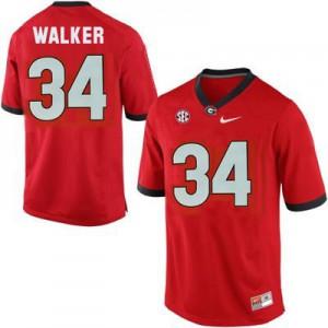 Herschel Walker Georgia Bulldogs #34 - Red Football Jersey