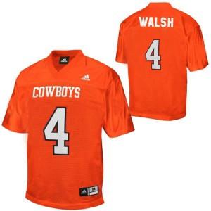 J.W. Walsh Oklahoma State Cowboys #4 - Orange Football Jersey