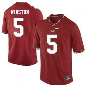 Jameis Winston FSU #5 Youth - Garnet Red Football Jersey