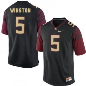 Jameis Winston FSU #5 - Black Football Jersey