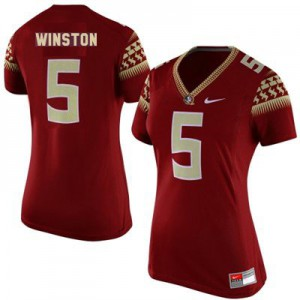 Jameis Winston Florida State #5 Women - Garnet Red Football Jersey