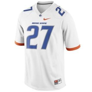 Jay Ajayi Boise State Broncos #27 - White Football Jersey