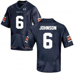 Jeremy Johnson Auburn Tigers #6 College - Blue Football Jersey