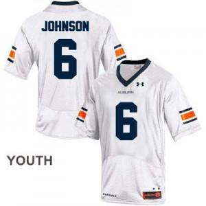 Jeremy Johnson Auburn Tigers #6 College - White - Youth Football Jersey