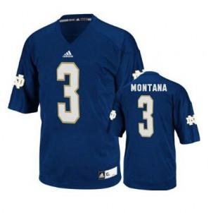 Joe Montana Notre Dame Fighting Irish #3 - Navy Blue Football Jersey