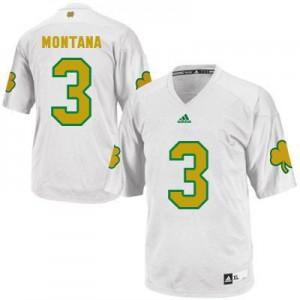 Joe Montana Notre Dame Fighting Irish #3 Shamrock Series - White Football Jersey