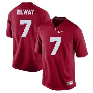 John Elway Stanford Cardinal #7 - Red Football Jersey