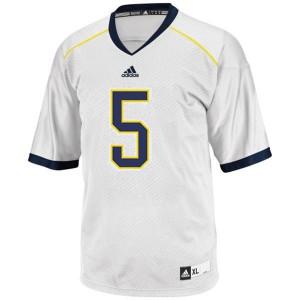 John Wangler UMich Wolverines #5 - White Football Jersey