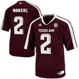 Johnny Manziel Texas A&M Aggies #2 - Maroon Red Football Jersey