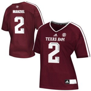 Johnny Manziel Texas A&M Aggies #2 Women - Maroon Red Football Jersey