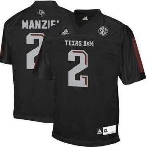 Johnny Manziel Texas A&M Aggies #2 Youth - Black Football Jersey