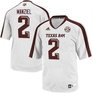 Johnny Manziel Texas A&M Aggies #2 Youth - White Football Jersey