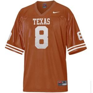 Jordan Shipley Texas Longhorns #8 Youth - Orange Football Jersey