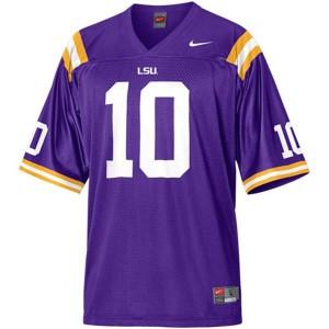 Joseph Addai LSU Tigers #10 Mesh - Purple Football Jersey