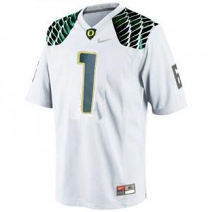 Josh Huff Oregon Ducks #1 - White Football Jersey