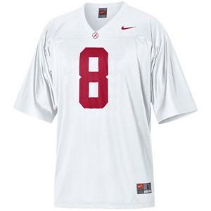 Julio Jones Alabama Crimson Tide #8 Youth - White Football Jersey