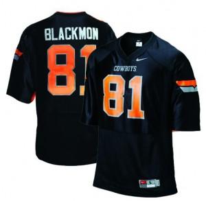 Justin Blackmon Oklahoma State Cowboys #81 - Black Football Jersey