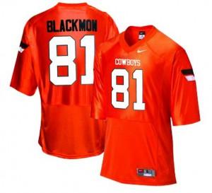 Justin Blackmon Oklahoma State Cowboys #81 - Orange Football Jersey