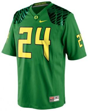 Kenjon Barner Oregon Ducks #24 - Apple Green Football Jersey