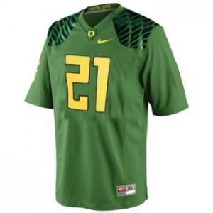 LaMichael James Oregon Ducks #21 - Apple Green Football Jersey