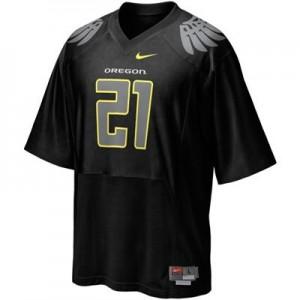 LaMichael James Oregon Ducks #21 - Black Football Jersey
