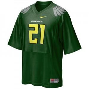 LaMichael James Oregon Ducks #21 Youth - Green Football Jersey