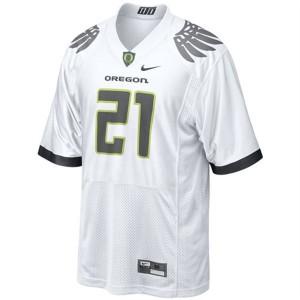 LaMichael James Oregon Ducks #21 Youth - White Football Jersey