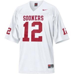 Landry Jones Oklahoma Sooners #12 - White Football Jersey