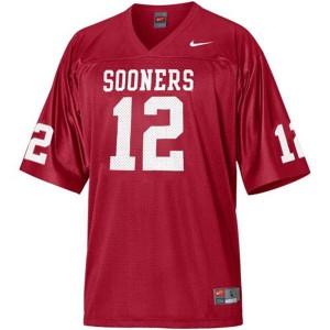 Landry Jones Oklahoma Sooners #12 Youth - Crimson Red Football Jersey