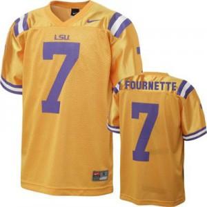Leonard Fournette LSU Tigers #7 - Gold Football Jersey