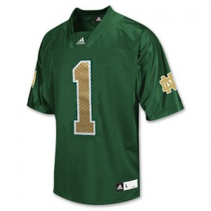 Louis Nix III Notre Dame Fighting Irish #1 - Green Football Jersey