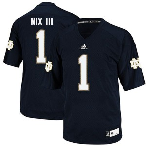 Louis Nix III Notre Dame Fighting Irish #1 Youth - Navy Blue Football Jersey