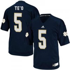 Manti Te'o Notre Dame Fighting Irish #5 - Navy Blue Football Jersey
