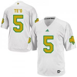 Manti Te'o Notre Dame Fighting Irish #5 Shamrock Series Youth - White Football Jersey