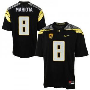Marcus Mariota Oregon Ducks 2014 #8 Mach Speed - Black Football Jersey