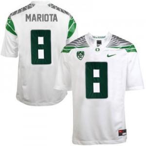 Marcus Mariota Oregon Ducks 2014 #8 Mach Speed - White Football Jersey