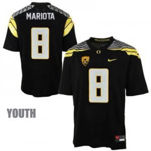 Marcus Mariota Oregon Ducks 2014 #8 Mach Speed Youth - Black Football Jersey