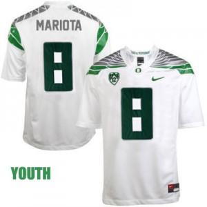 Marcus Mariota Oregon Ducks 2014 #8 Mach Speed Youth - White Football Jersey