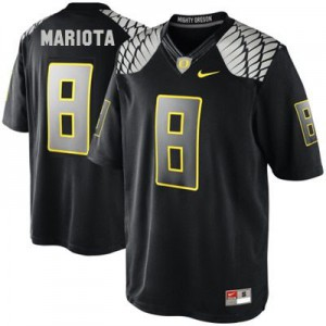Marcus Mariota Oregon Ducks #8 - Black Football Jersey