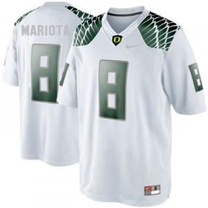 Marcus Mariota Oregon Ducks #8 - White Football Jersey