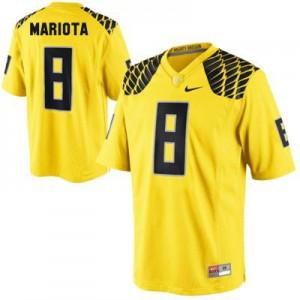 Marcus Mariota Oregon Ducks #8 - Yellow Football Jersey