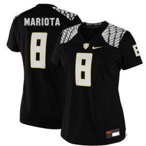 Marcus Mariota Oregon Ducks #8 Women - Black Football Jersey
