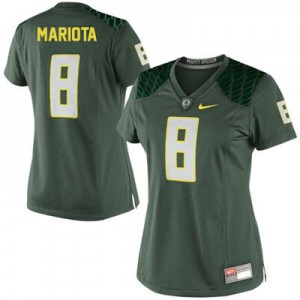 Marcus Mariota Oregon Ducks #8 Women - Green Football Jersey