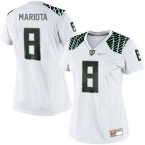 Marcus Mariota Oregon Ducks #8 Women - White Football Jersey