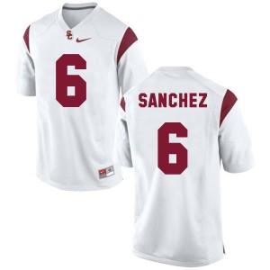 Mark Sanchez USC Trojans #6 - White Football Jersey