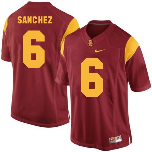Mark Sanchez USC Trojans #6 Youth - Red Football Jersey