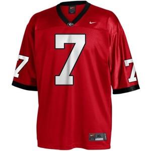 Matthew Stafford Georgia Bulldogs #7 - Red Football Jersey