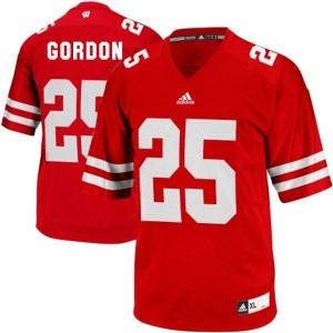 Melvin Gordon UW Badger #25 - Red Football Jersey
