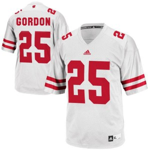 Melvin Gordon UW Badger #25 - White Football Jersey